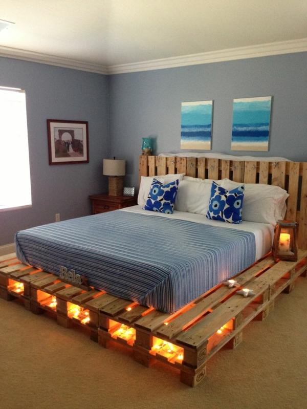 Bett selber bauen paletten  Europaletten Bett bauen - preisgünstige DIY-Möbel im Schlafzimmer