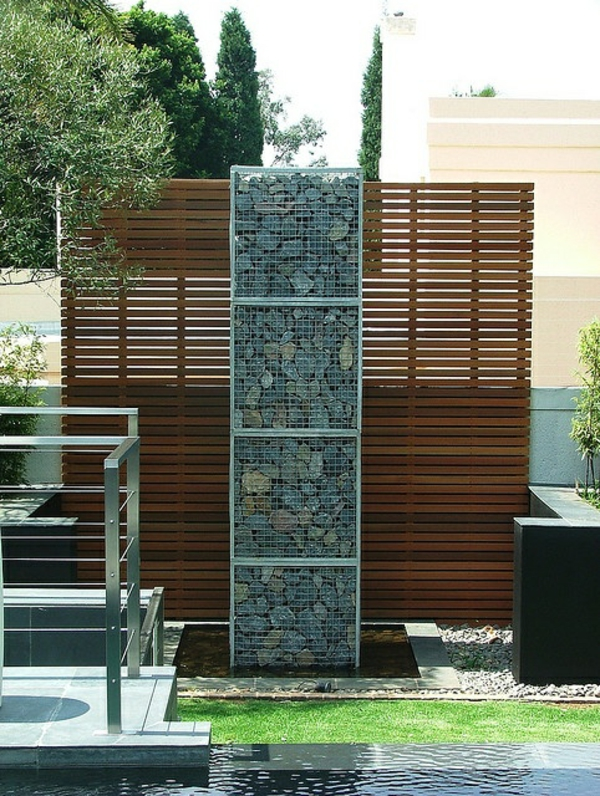 exterior designideen beispiele für moderne gartengestaltung sichtschutz
