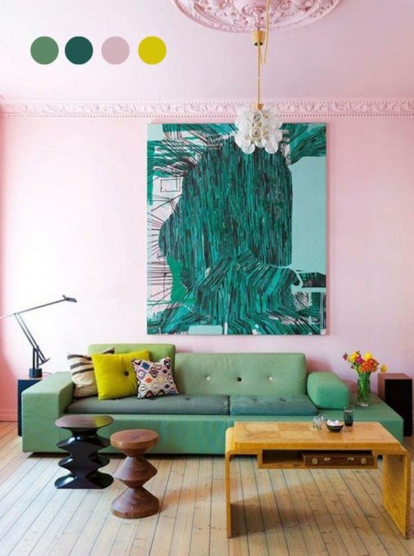 farbgestaltung wandfarben farbpalette muster wanddeko effekt
