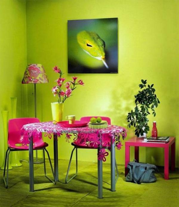 farbgestaltung Farbpaletten für Wandfarben muster wanddeko grell