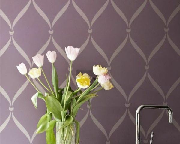 Farbpalette muster farbgestaltung tulpen wandfarben wanddeko küche