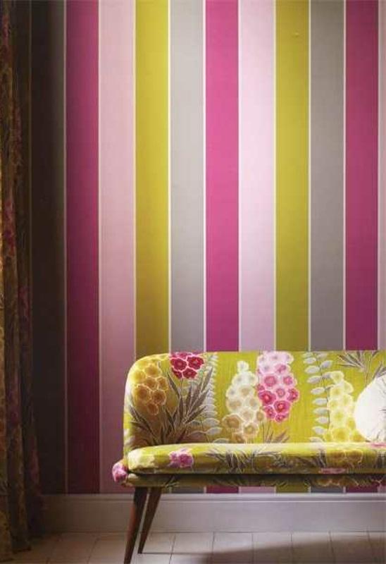 farbgestaltung wandfarben farbpalette muster wanddeko streifen