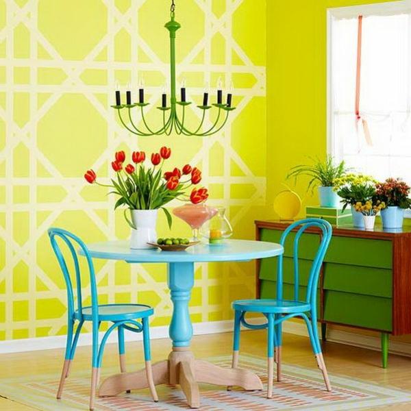 farbgestaltung Farbpaletten für Wandfarben muster wanddeko vintage