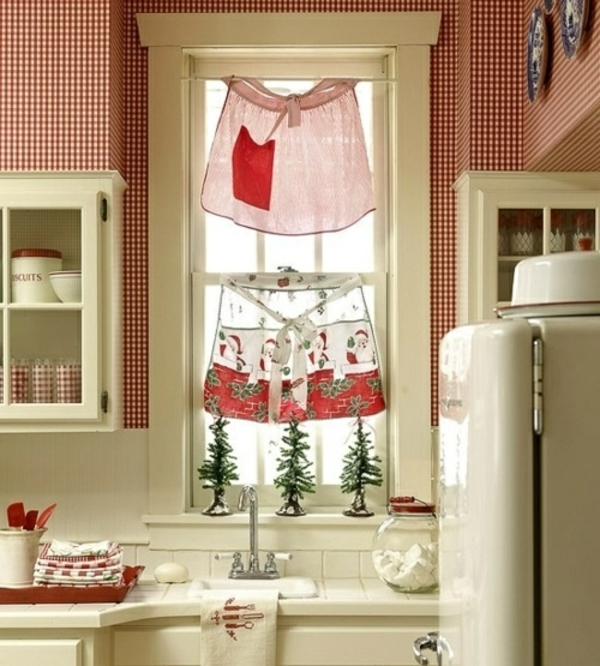 fenstergardinen gardinen dekoration beispiele rot weiß