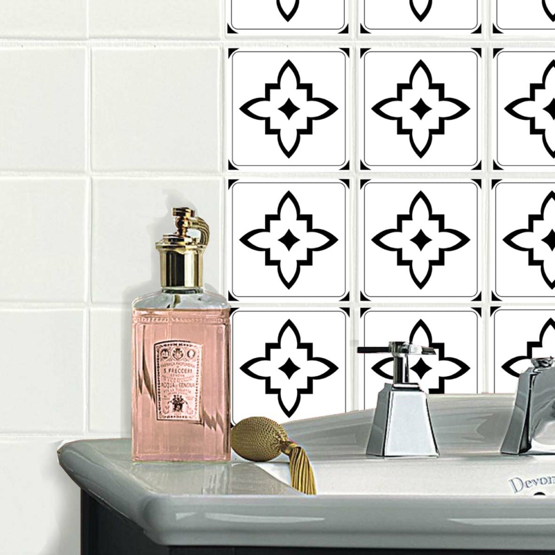 Klebefolie Fur Badezimmer Fliesen : fliesen aufkleber bad küche fliesenwand fliesenmuster WA31437b