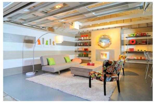 garage zu wohnraum umgebaut wohnwand