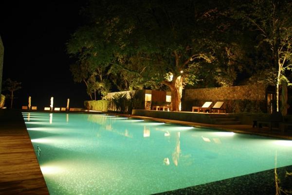 garden swimming pool design beleuchtung
