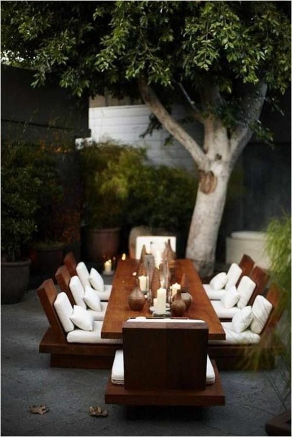 garten designideen outdoor möbel gastronomie weiße auflage