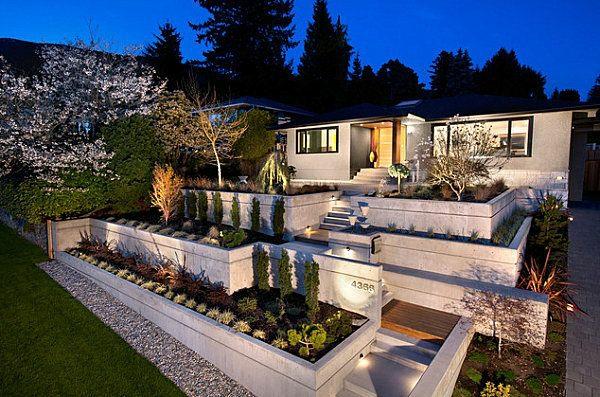 Garten Designideen Vorgartengestaltung Auf Ebenen