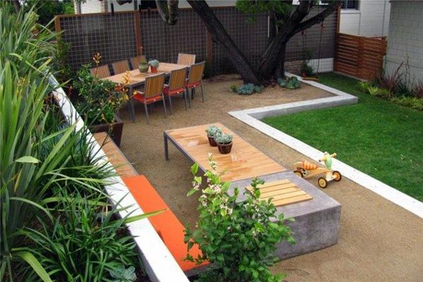 wie kann man seine vorgartengestaltung modern kreieren, Terrassen deko