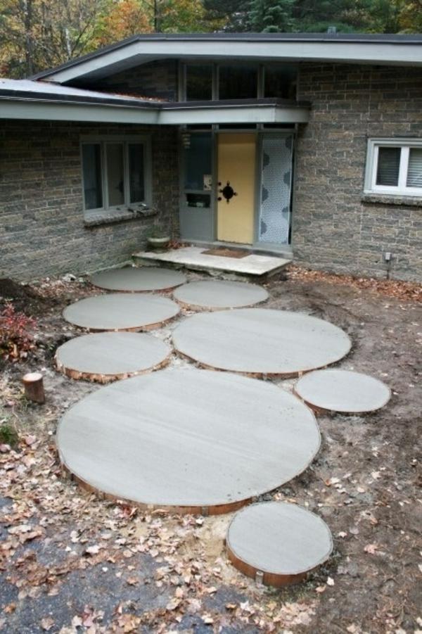 garten designideen vorgartengestaltung modern steinplatten