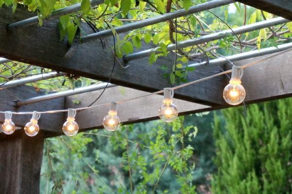 garten ideen patio schöne beleuchtung