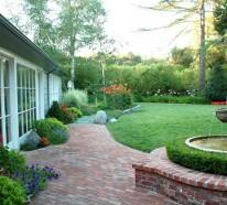 Garten Landschaftsbau mit Ziegeln – 15 tolle Gartengesteltung Ideen