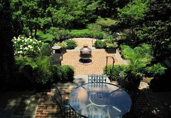 Garten Landschaftsbau mit Ziegeln - 15 tolle Gartengesteltung Ideen