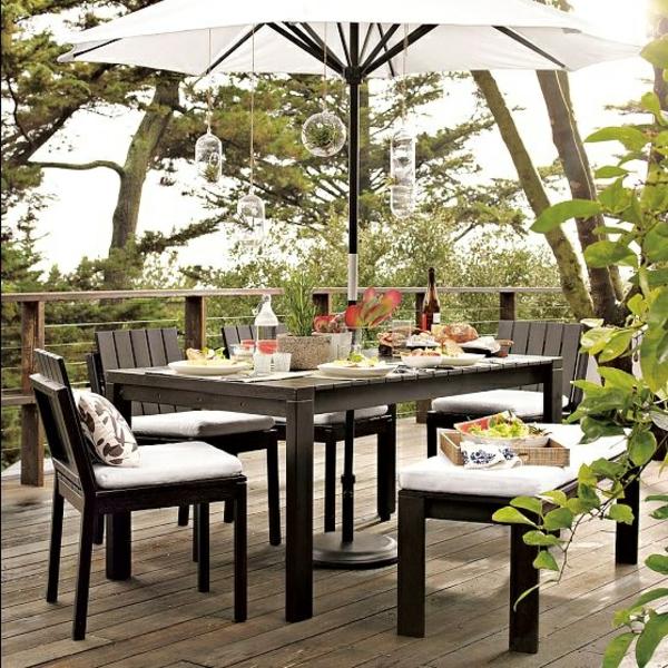 garten outdoor möbel gastronomie holz gepolstert