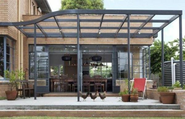 garten pergola aus metall gartenmöbel sommerhaus