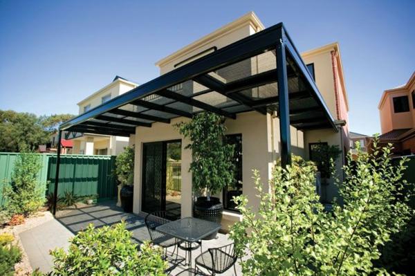 garten pergola aus metall terrassenüberdachung außenbereich gestalten