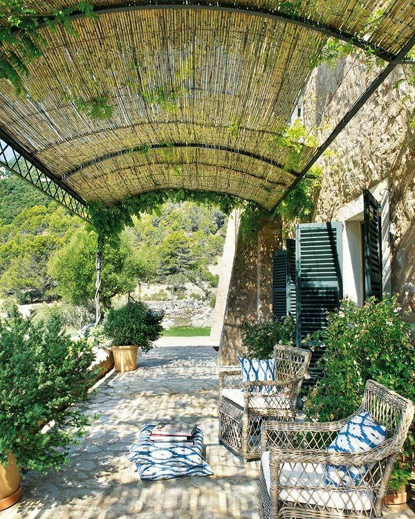 Gartenmobel Auflagen Toom : garten pergola aus metall terrassenüberdachung bambus sonnenschutz