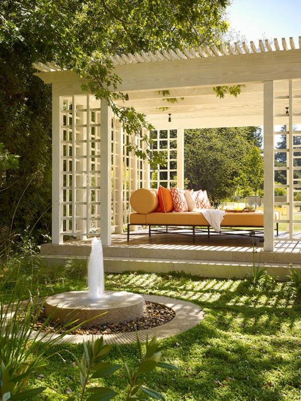 garten pergola selbst bauenpatio schön sofa
