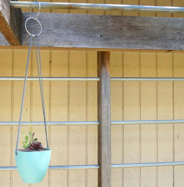 garten pflanzgefäße aufhängen bastelideen im garten