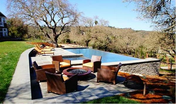 Garten Pool und Feuerstelle zusammenstellen - 15 Ideen
