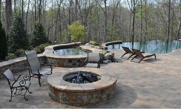 Garten Pool Und Feuerstelle Zusammenstellen - 15 Ideen Eine Feuerstelle Am Pool