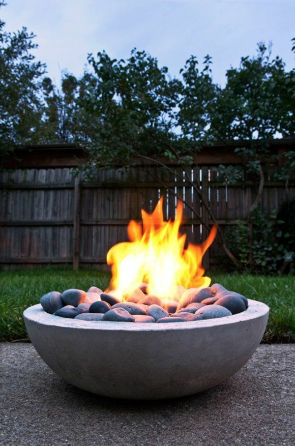 gartengestaltung ideen modern feuerstelle