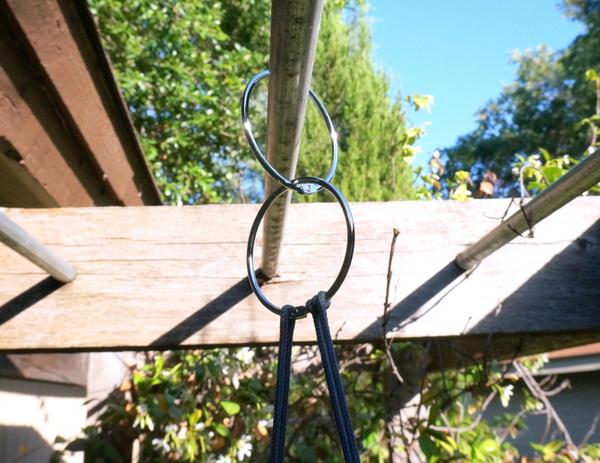 gartenideen pflanzgefäße aufhängen mit ringen diy projekt