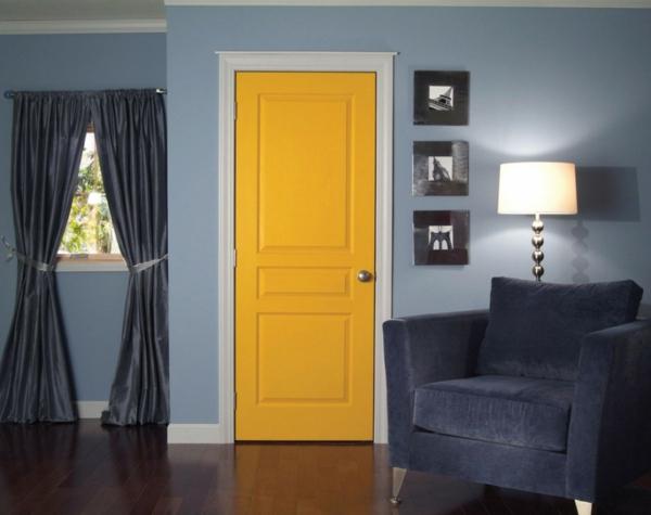 innentüren mit zarge - bilder und anleitung - Hellblau Wandfarbe