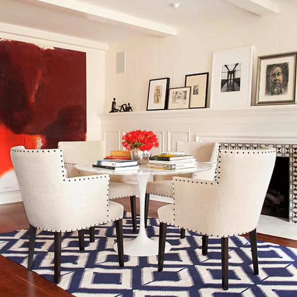 gepolstert möbel esszimmer kamin kunstvoll teppich