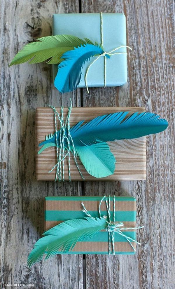 geschenke schön verpacken buntes geschenkpapier