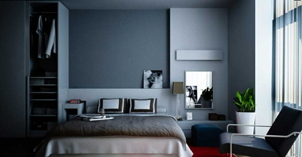 wandfarbe taubenblau wandgestaltung ideen mit blauen. Black Bedroom Furniture Sets. Home Design Ideas