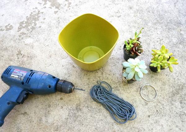 hängende pflanzgefäße selber machen diy projekt materialien