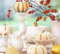 Herbstdeko Ideen – farbenfrohe Tischdeko und andere Bastelideen aus Naturmaterialien