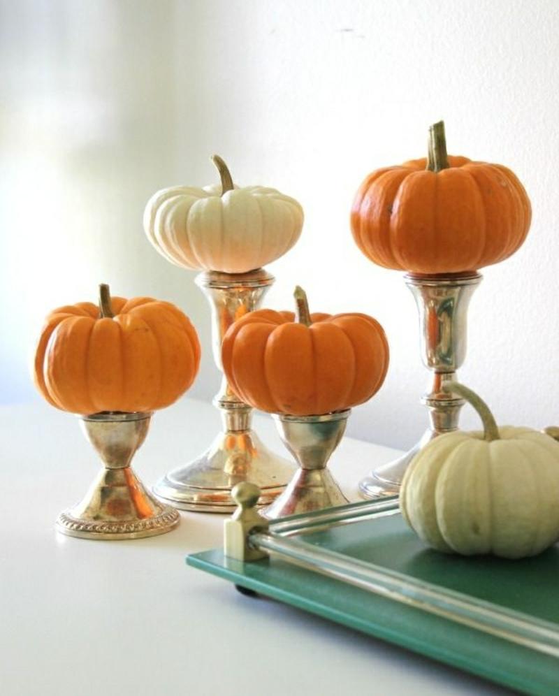 moderne herbstdeko 2014 : Herbstdeko Ideen – farbenfrohe Tischdeko ...