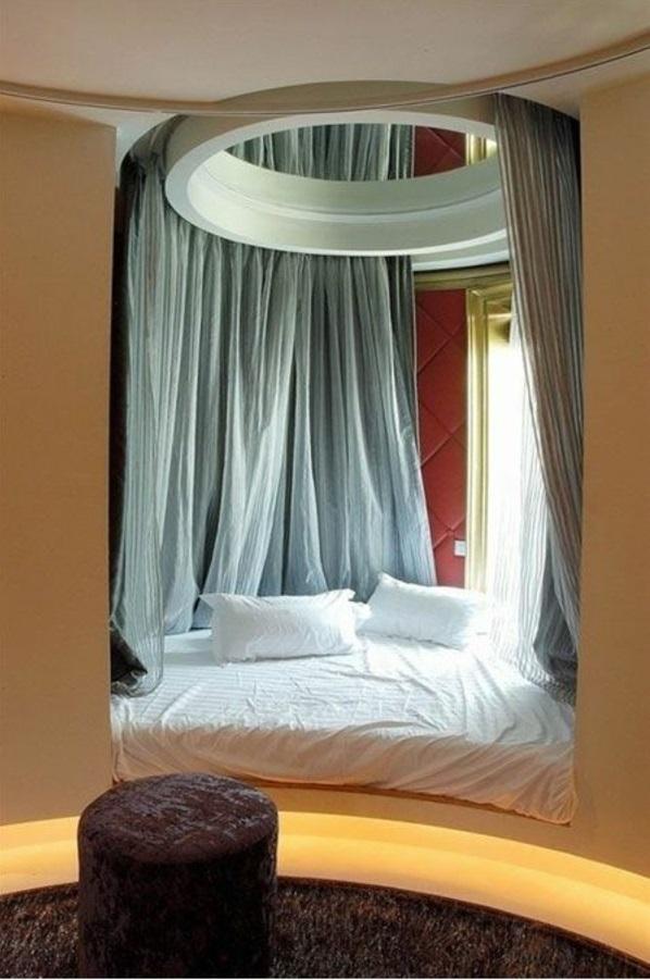 himmelbett eingebaut schlafzimmer designideen