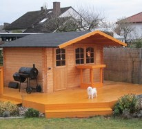 Mit Einem Holz Gartenhaus Wird Es Romantisch