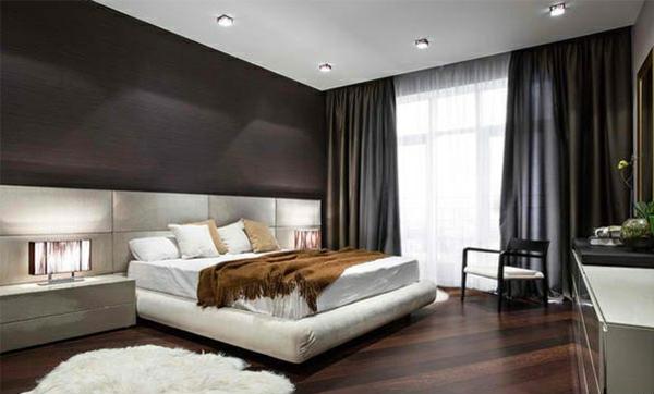 Holzboden Im Schlafzimmer Wohnideen Farbgestaltung Braun Beige Weiß
