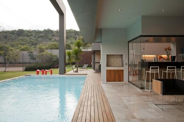 offen raum natur umgebung esszimmer pool im garten