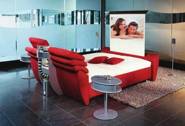 ideen für außerordentliche betten kino schlafzimmer design