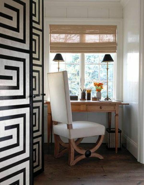 ideen weiße  innentüren schwarze elemente
