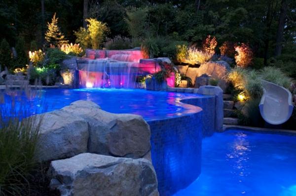 infinity design pool beleuchtung