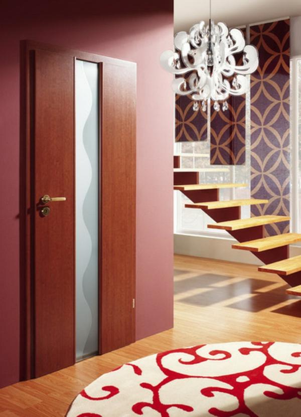 innentüren einbauen holz massiv glatt designer