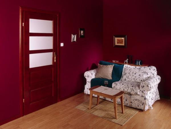innentüren einbauen holz massiv glatt sofa bett