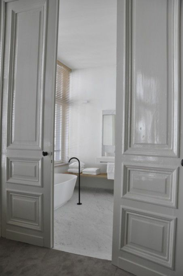 white bathroom door 25 wei 223 e innent 252 ren ideen f 252 r ihr interior design 15063