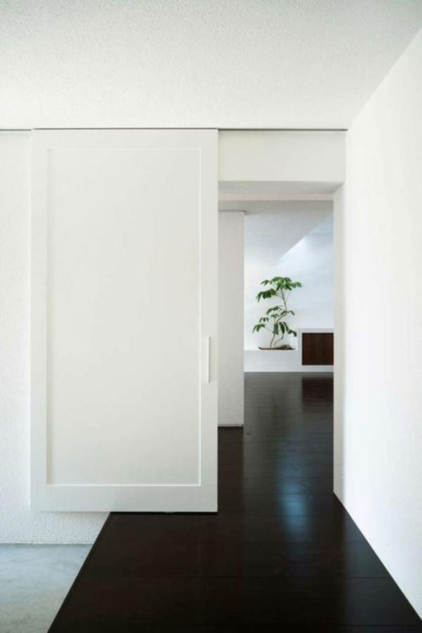 innentüren weiß schiebetüren stilvoll bodenbelag