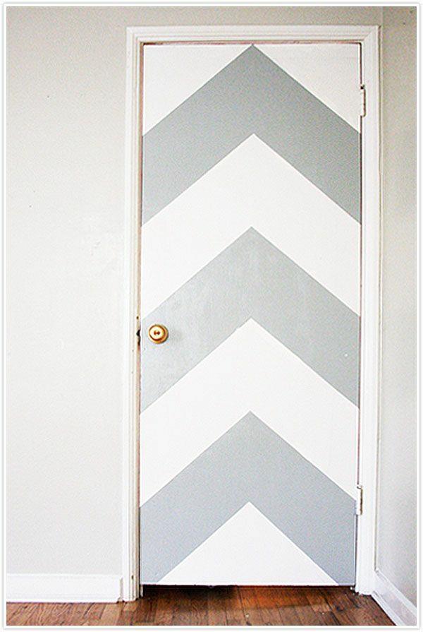 innentüren weiß silber streifen