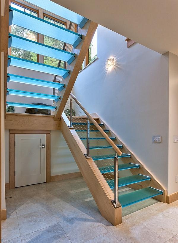 Treppengeländer Holz Und Glas ~ interior design ideen korridor treppenhaus glas und holz