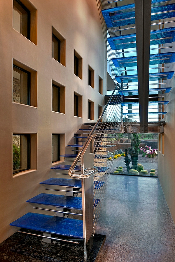 interior design ideen treppenhaus hartglas