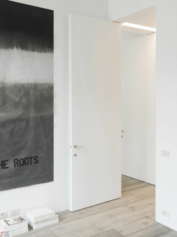 interior design ideen weiße innentüren minimalistisch